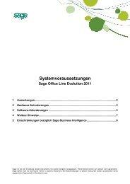 Systemvoraussetzungen Sage Office Line Evolution ... - TH Software