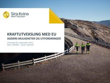 Kraftutveksling med EU. Agders muligheter og utfordringer