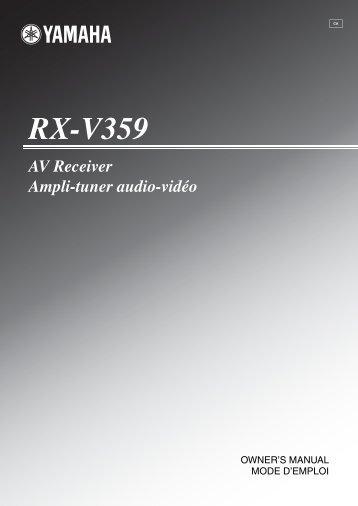 RX-V359 - Yamaha