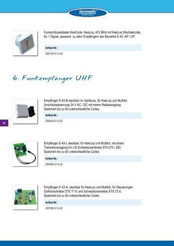 Funkempfänger UHF - tormatic