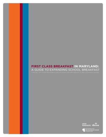 FIRST CLASS BREAKFAST IN MARyLAND: - Maryland Hunger ...
