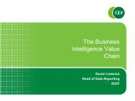 The Business Intelligence Value Chain