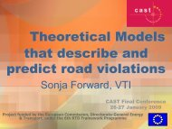 Theoretical Models that describe and predict road ... - Cast-eu.org