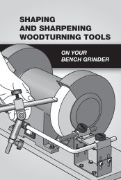 Shaping and Sharpening Woodturning Tools on Your Bench - Tormek