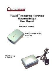 GigaFast Ethernet HomePlug Ethernet Bridge User Manual - Solwise
