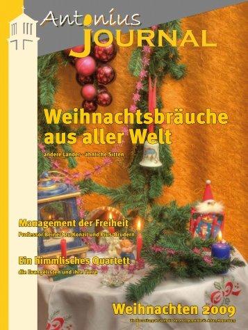 Weihnachtsbräuche aus aller Welt - Pfarrei St. Anton Regensburg