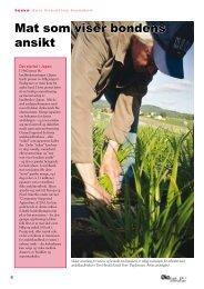 Mat som viser bondens ansikt - Fagbladet Økologisk Landbruk