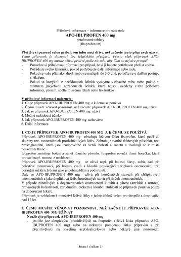 APO-IBUPROFEN 400 mg - Dr. Max Lékárna