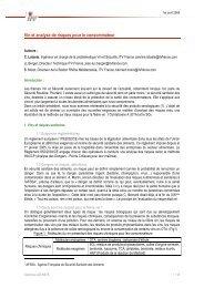 Vin et analyse de risques pour le consommateur - Union des ...