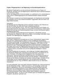 Projekt: Pflegeexpertise in der Begleitung von ...