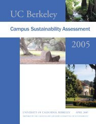 2005 - UC Berkeley Sustainability - University of California, Berkeley