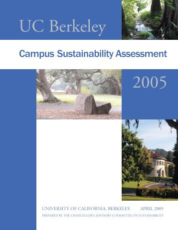 2005 - UC Berkeley Sustainability - University of California, Berkeley