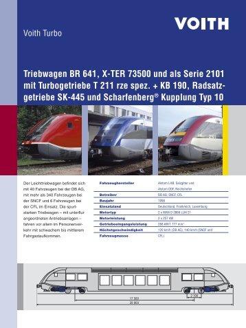 Triebwagen BR 641, X-TER 73500 und als Serie 2101 mit ...