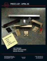Dortronics April 2009 Pricelist.pdf - Access Hardware Supply