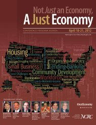Print the conference schedule - National Community Reinvestment ...