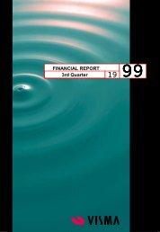 FINANCIAL REPORT 3rd Quarter - Visma