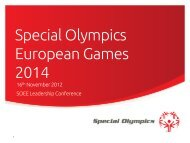 Special Olympics European Games 2014