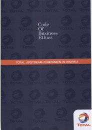 Code of Business Ethics - TOTAL Nigeria