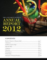 Click here to view our 2012 Annual Report - The Columbus Museum