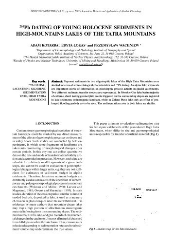 pb 210 dating Thus goldberg (1963) developed the first principles of the 210pb dating method,  (1963) developed the first principles of the 210 pb dating method,.