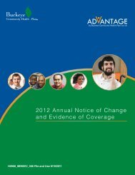 2012 Annual Notice of Change and Evidence of Coverage