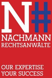 Rechtsanwälte ouR expeRtise youR success