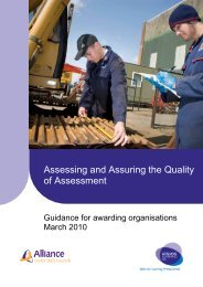 Assessing and assuring the quality of assessment - Edexcel