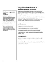 Using Interactive Read-Alouds to Model Good-Reader Strategies