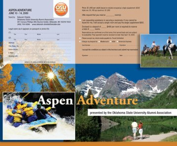 Aspen Adventure - OSU Alumni Association