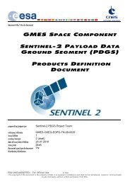 GSC Sentinel-2 PDGS Products Definition Document - Emits - ESA