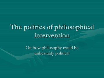 Epistemology is political