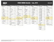 STARZ CINEMA Schedule - June, 2013