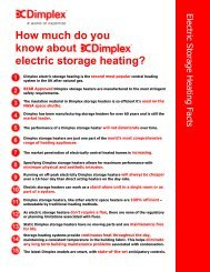 How much do you know about electric storage heating? - Dimplex