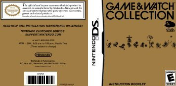 INSTRUCTION BOOKLET - Nintendo