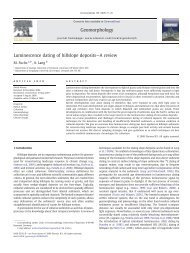 Luminescence dating of hillslope deposits—A review