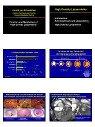 High Density Lipoproteins - Institut für Klinische Chemie ...