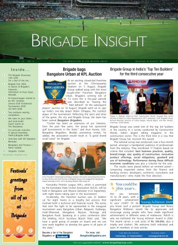 BRIGADE INSIGHT BRIGADE INSIGHT - Brigade Group