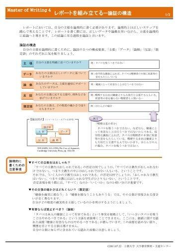 レポートを組み立てるー論証の構造 - 立教大学