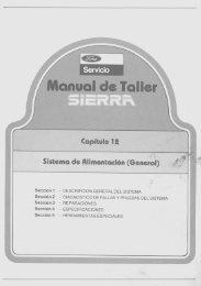 Sistema de Alimentación - Ford Sierra Net