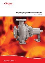 Fliegend gelagerte Wassernormpumpe - TS-Pumpentechnik GmbH