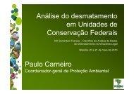 Análise do Desmatamento em Unidades de Conservação - OBT - Inpe