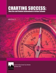 5. Charting Success - Council of the Great City Schools