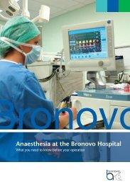 Anaesthesia at the Bronovo Hospital