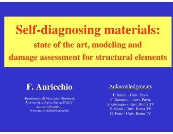 Self-diagnosing materials: