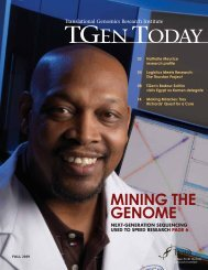 Fall 2009 Issue - Translational Genomics Research Institute