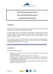 UMS Flotte Océanographique Française APPEL D ... - CNFC - CNRS