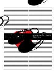 Sprievodkyňa štúdiom 2009 / 2010 - Vysoká škola výtvarných umení