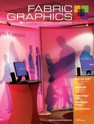 Fabric Graphics, May June 2009, Digital Edition - Specialty Fabrics ...