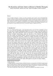 The Byzantine and Early Islamic settlement of Khirbat ... - web journal