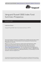 Vanguard Russell 3000 Index Fund (Institutional Shares) Summary ...